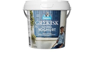Salakis kreikkalainen maustamaton jogurtti 1kg 10%