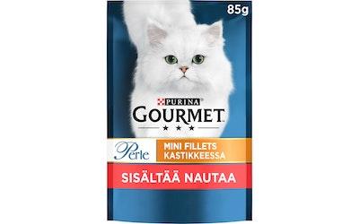 Gourmet Perle Naudanlihaa kastikkeessa 85g kissanruoka
