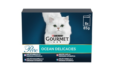 Gourmet Perle Sea Delicacies lajitelma 8x85g kissanruoka