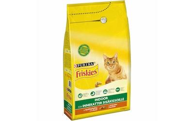 Friskies Indoor Kanaa ja lisättyjä Vihanneksia 1,5kg kissanruoka