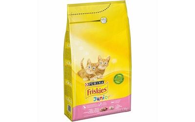 Friskies Junior Kanaa, Maitoa ja lisättyjä Kasviksia 1,5kg kissanruoka