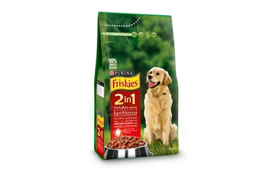 Friskies 2in1 Lihaa & lisättyjä Kasviksia 3kg koiranruoka