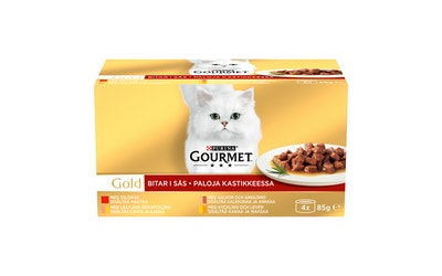 Gourmet Gold kastikelajitelma 4x85g kissanruoka