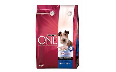 Purina ONE Adult Maturity 7+ Runsaasti Kanaa, sisältää Riisiä 3kg koiranruoka