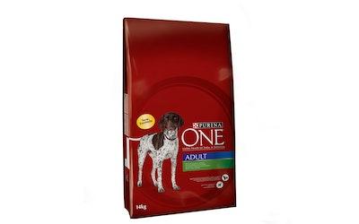 Purina ONE Adult Runsaasti Lammasta, sisältää Riisiä 14 kg koiranruoka