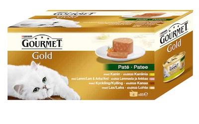 Gourmet Gold pateelajitelma 4x85g kissanruoka