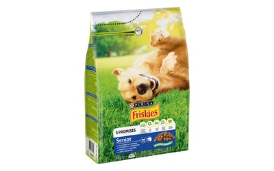 Friskies Senior Kanaa ja lisättyjä Kasviksia koiranruoka 3kg