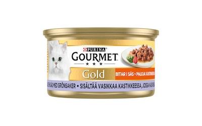 Gourmet Gold kissan annosrasia 85g vasikkaa kasviskastikkeessa