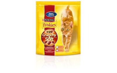 Friskies kissan kuivaruoka 800g Crunchy&Soft naudanlihaa, kanaa ja lisättyjä kasviksia