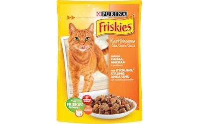 Friskies kissanruoka annospussi 100g kanaa, ankkaa ja porkkanaa kastikkeessa