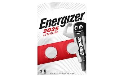 Energizer CR2025 2 kpl lithiumparisto