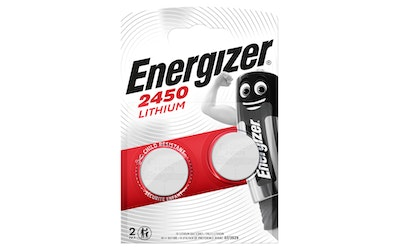 Energizer CR2450 2 kpl lithiumparisto