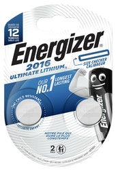 Energizer Ultimate CR2016 2 kpl lithiumparisto