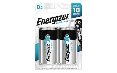 Energizer Max Plus D-paristo 2kpl