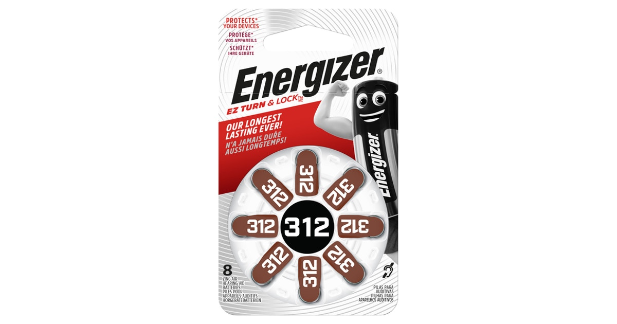 Energizer 312 Kuulokojeparisto Turn Lock K Ruoka