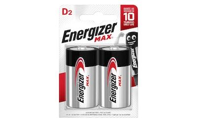 Energizer Max D 2 kpl alkaliparisto