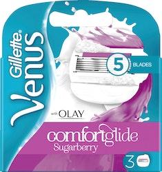 Gillette Venus Olay Comfortglide Sugarberry terä 3 kpl
