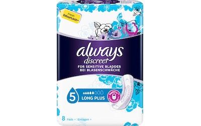 Always 8kpl Discreet Long Plus Pads inkontinenssiside