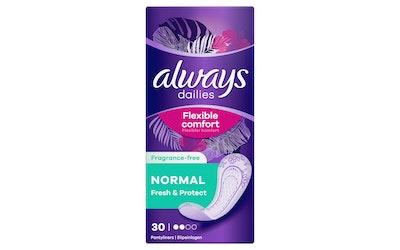 Always Normal Fresh&Protect pikkuhousunsuoja 30 kpl