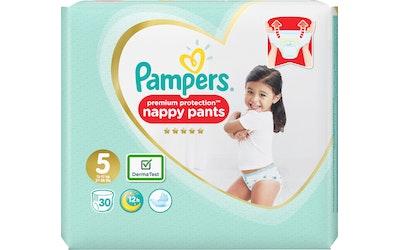 Pampers 30kpl Premium Protection Pants S5 (12-17kg) housuvaippa