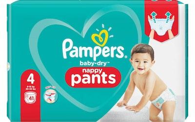 Pampers housuvaippa 41kpl BabyDry pants S4 9-15kg