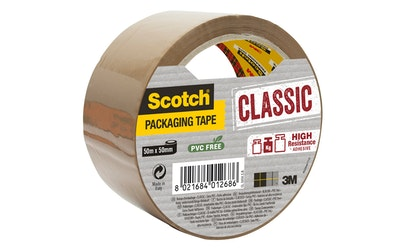Pakkausteippi Scotch Classic ruskea 50mm x 50m