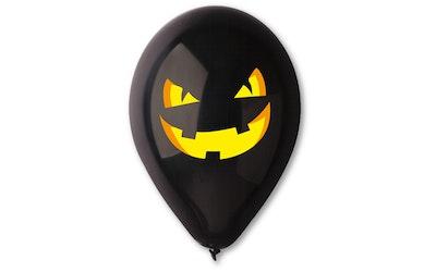Halloween 30 cm musta ilmapallo 6 kpl/pss