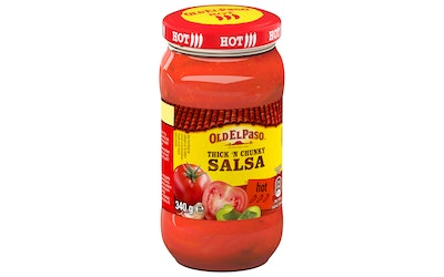 Old El Paso Thick and Chunky Original Salsa 340g Hot