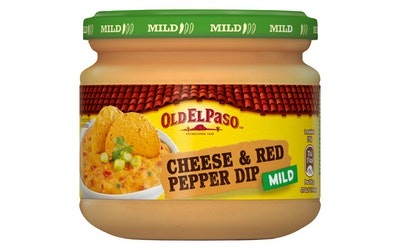 Old El Paso Cheese Red Pepper Dip 320g mild