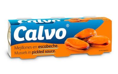 Calvo simpukka 3x80g mausteliemessä