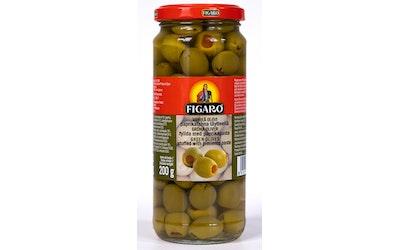 Figaro vihreitä oliiveja 340g/200g paprikatahnatäyte