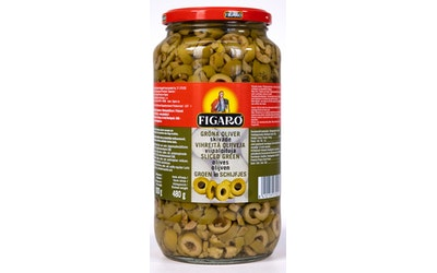 Figaro vihreä oliivi 935g/480g viipaloitu