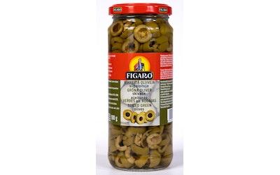 Figaro vihreitä oliiveja 340g/180g viipaloituja