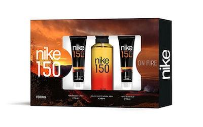 Nike On Fire 150 for Man lahjapakkaus, sis. EdT 150ml, suihkusaippua 75ml ja after shave 75ml - kuva