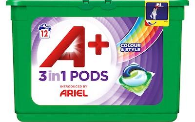 Ariel Pods nestemäinen pyykinpesutabletti 12kpl 3in1 Colour