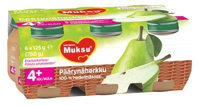 Muksu Päärynäherkku 100% hedelmäsose 6x125g 4kk