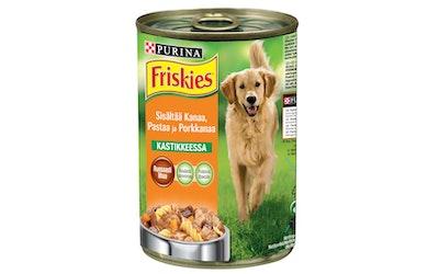 Friskies Kanaa, Pastaa Ja Porkkanaa Kastikkeessa 400g koiranruoka