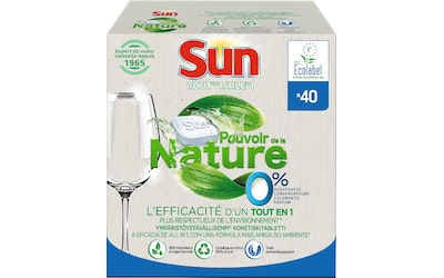 Sun Powered by Nature konetiskitabletti 0% All-in-1 40tab