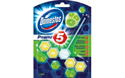 Domestos Power 5 Lime WC-raikastin