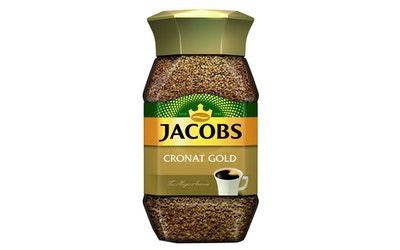 Jacobs Cronat Gold pikakahvi lasip. 100g