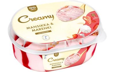 Ingman Creamy 850ml mansikka-marenki laktoositon