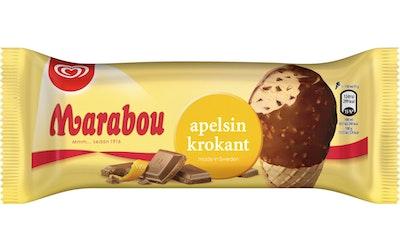 Heartbrand jäätelötuutti Marabou appelsiinikrokantti 150ml/90g