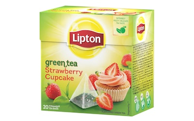 Lipton Pyramid tee 20ps green tea strawberry cupcake RFA