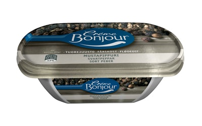 Creme Bonjour tuorejuusto 200g mustapi