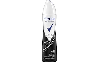 Rexona deo spray 150ml Women Invisible for Black White