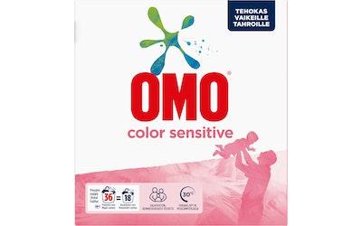 Omo pyykinpesujauhe 1,26kg Sensitive Color