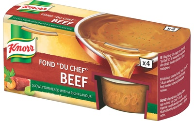 Knorr FOND DU CHEF Naudanliha-annosfondi 4 x 28 g