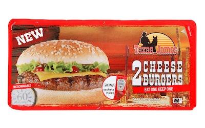 Texas James cheeseburger 2x130,5g
