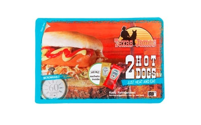 Texas James hot dog 2x100g