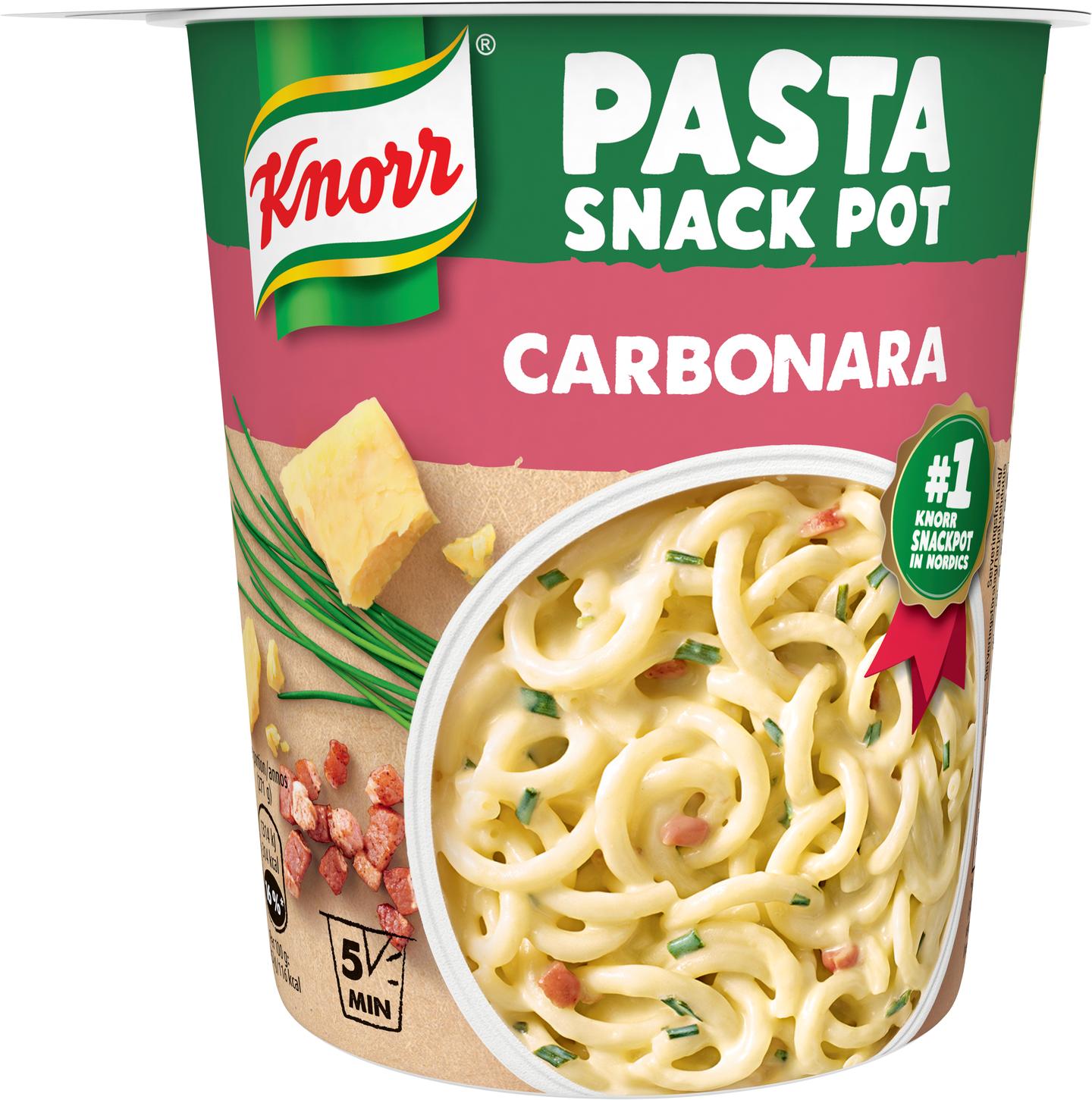 Knorr Snack Pot 71g Spaghetti Carbonara K Ruoka